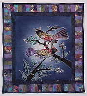 Crazy Bird Quilt #0020