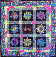 Stack and Wack Cat Quilt Lap Throw $225.00