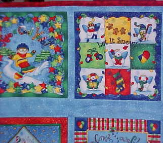 Kids Christmas Holiday Wall Hanging Quilt $55.00
